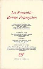 LA NOUVELLE REVUE FRANCAISE n° 232 . Avril 1972 .Gottfried Benn