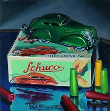 Original Fine Automobilia Art Painting Signed by Donald Wieland