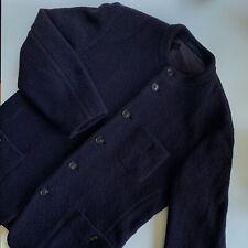 'Issey Miyake Men' Coat / Jacket | Medium | Dark Navy | Wool Blend Pile