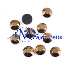 1440pcs Metallic Gold 2mm ss6 Flat Back Glass DMC A+ Hotfix Rhinestones Gems C53