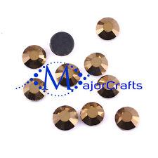 1440pcs Metallic Gold 2mm ss6 Flat Back Glass DMC A+ Hotfix Rhinestones Gems C53