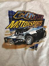 "Coyne Motorsports Mens Sweatshirt Gray W/ Blue Truck XL Chest 48"" New"