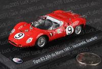 Maserati Tipo 63 24h Le Mans 1961 #9 VACCARELLA, SCARFIOTTI 1/43 Diecast Model