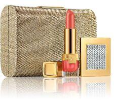 ❤️ESTÉE LAUDER *SWAROVSKI ELEMENTS GIFT SET* bag lipstick gold BNIB *RARE* LE❤️