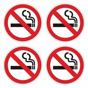 4x Aufkleber   Rauchen verboten   NO SMOKING   Rauchfrei   MADE IN GERMANY #D010
