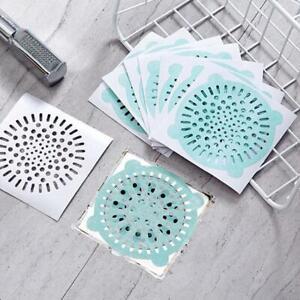 10X Disposable Floor Drain Filters Sink Strainer10cmBathroom Catcher Hair N7H7
