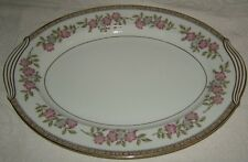 Noritake Cordell Small Oval Serving Platter Floral with Gold Edge