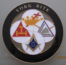 YORK RITE  Masonic Cut out Car Auto Emblem