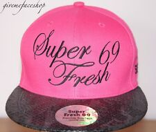 Super Fresh snakeskin Snapback, unisex hip flat peak fitted hats bling/baseball