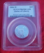 2006 W PLATINUM $25 1/4 oz AMERICAN LIBERTY EAGLE PCGS PROOF 69 no silver gold