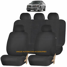 BLACK ELEGANCE AIRBAG COMPATIBLE SEAT COVER SET for LINCOLN MKZ MKT MKX