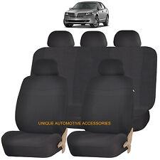 BLACK ELEGANCE AIRBAG COMPATIBLE SEAT COVER SET for LINCOLN MKZ MKT MKX