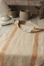 Antique hemp caramel stripe nubby grainsack linen grain sack feed bag CARAMEL