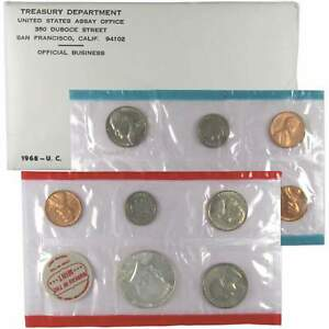 1968 U.S. Mint Set Uncirculated Original Government Packaging OGP Collectible