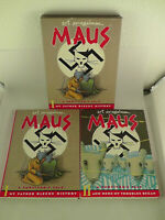 MAUS I & MAUS II Graphic Novels Boxed Edition Art Spiegelman Pantheon ~V