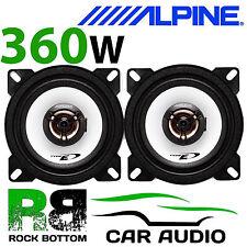 """ALPINE VOLKSWAGEN VW CADDY VAN 1995 - 2003 4"""" 10cm 2 Way 360W Top Dash Speakers"""