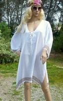 Lagenlook Tunika Bluse Kaftan Kleid Hippie ♥ EG XL-XXL 46 48 50 52 Ibiza