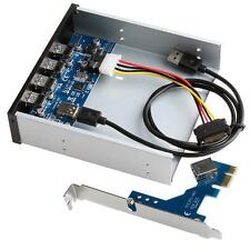 Top PCI Express 4 Ports USB 3.0 PCI-E Card Adapter Front Panel Expansion Bay