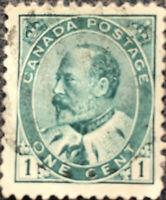 Canada Stamp #89 1903 Edward VII Postage Stamp VF