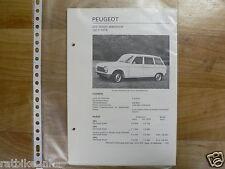 PE23-PEUGEOT 204 DIESEL STATIONCAR 1973-1975 INFO
