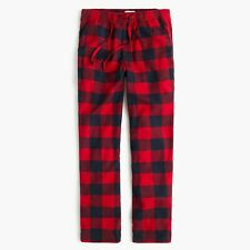 J.Crew Flannel Pajama Pant in Buffalo Check | M | Red | $59.50