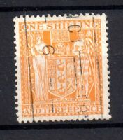 New Zealand 1931 1s 3d yellow green Arms Revenue fine used WS21147