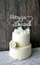 Cake Topper Hochzeit personalisiert Holz mit Namen Kuchentopper Just Married Hoc