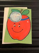 Vintage Greeting Card Get Well Apple Doctor