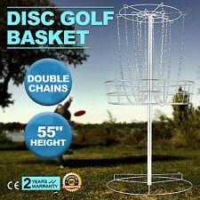 Vevor Disc Golf Basket Double Chains Portable Practice Target Steel frisbee hole