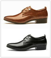 Men's Fashion Formal Dress Oxfords Business Casual Shoes Loafers Pointy Toe New