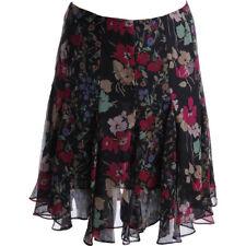 NEW Womens Lauren Ralph Lauren Black Georgette A-Line Floral Skirt Petites AU16