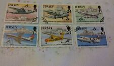 JERSEY 1997 USED SET OF 6 STAMPS S G 807-12 JERSEY AIRPORT        J18/060