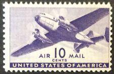 1941 10c Transport Plane airmail single, Scott #C27, MNH, Fine