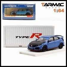 Tarmac Works Honda Civic Type R Fk8 Blue with Black Bonnet Tuned By Spoon 1/64