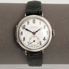 """Tavannes, SCHWOB FRERES & CO Silver TRENCH WWI Watch """"DOMINANT"""" Military Antique"""