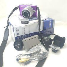 Olympus Pen Mini E-PM1 purple Digital Camera 14-42mm Lens In Original Boxed