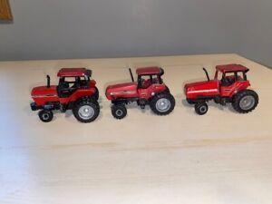 Vintage ERTL 1/64 Case International 5120 w/ duals, 7240 w/MFWD & Magnum tractor