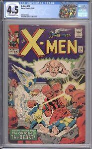 X-MEN #15 - CGC 4.5 - 1965 / 2ND SENTINELS / 1ST MASTER MOLD / BEAST ORIGIN