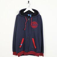 Vintage ADIDAS ORIGINALS Washington Wizards Zip Hoodie Sweatshirt Blue   Large L