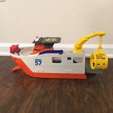 MATCHBOX 57 Marine Rescue Shark Ship Boat Helicopter Pad Bathtub Pool Toy