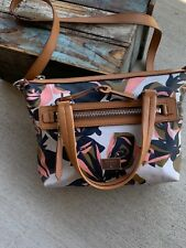 Fossil Dawson Satchel Cotton Floral Bag ZB6593919 Crossbody Handbag Bag