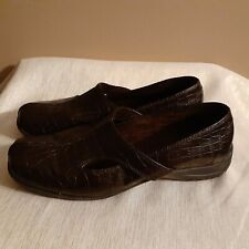 Women's Womens Easy Street Comfort Shoes Brown Loafers Size 9WW Extra Wide
