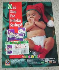 1995 ad page - Pampers Premium Diapers CUTE baby diaper Christmas old coupon AD