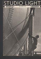 Studio Light Magazine Photography Eastman Kodak October 1936 Occupation