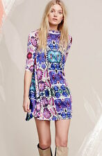 NWOT Free People New Romantics Retro Floral Print Swingy Trapeze Tunic Dress S