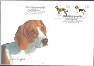 2832 - Estonia - 2005 - Estonian - Kazakh joint issue Hunting Dogs - FDC