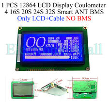 1 PCS 12864 LCD Display Coulometer 4 16S 20S 24S 32S Smart ANT BMS Only LCD+Line