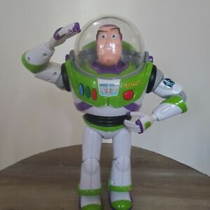 """Toy Story Buzz Lightyear Talking  Action Figure Thinkway Pixar 12"""""""