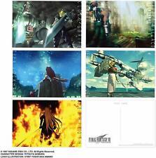 Final Fantasy 7 VII Postcard Set 5 Post Cards Image Art Square-Enix Japan