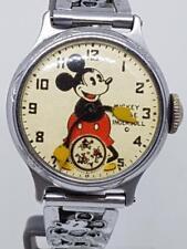 Reloj De Pulsera Mickey Mouse Original Wind Up 1933 Ingersoll Circa 1933